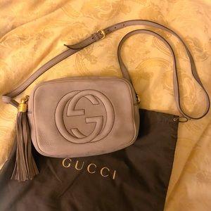 Authentic Gucci Grey Disco Soho Bag